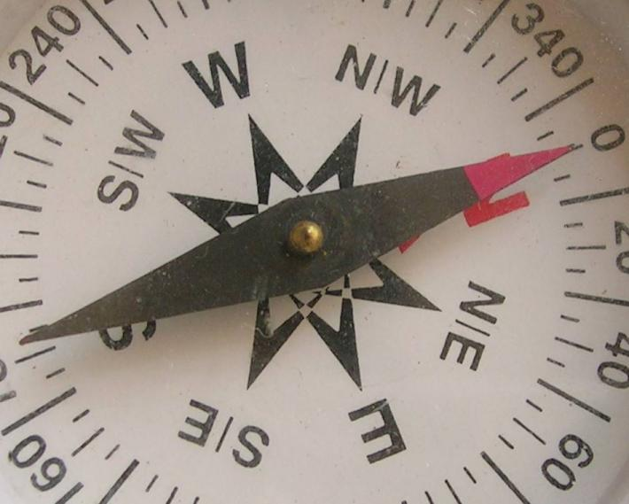 Triple fluxgate sensor - magnetic compass